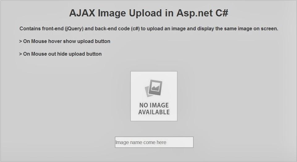 ASP.NET CLOUD: AJAX Image Upload in Asp.net C#