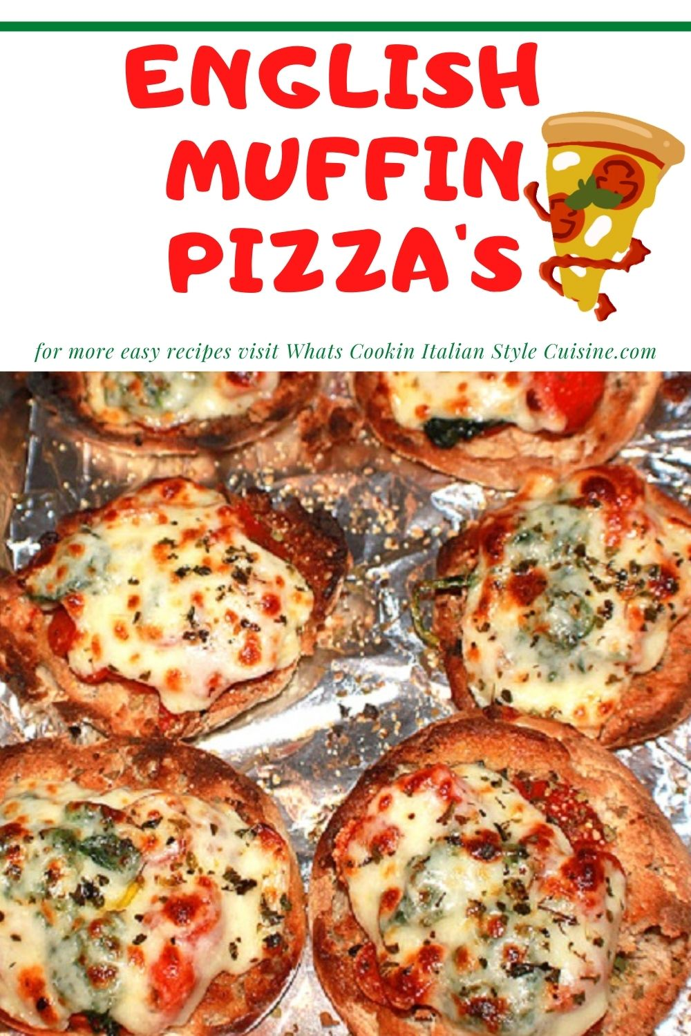 this is a pin for later how to make English Muffin pizza