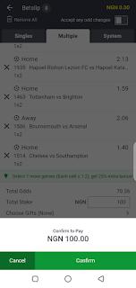 Sportybet comfirm bet