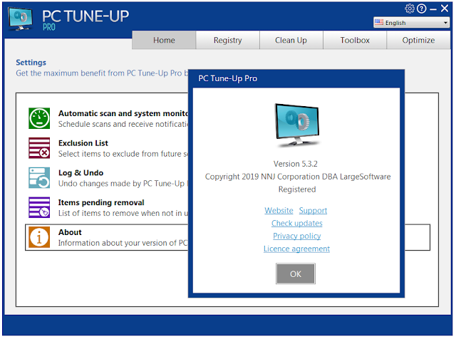 Screenshot Large Software PC Tune-Up Pro 5.3.2.0 Full Version
