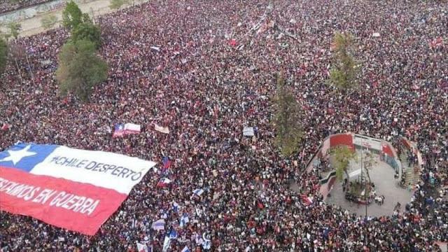 Más de un millón de chilenos protestan contra Gobierno de Piñera