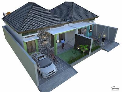 denah rumah sederhana 2021