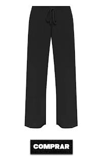 Pantalon palazzo color negro para mujer