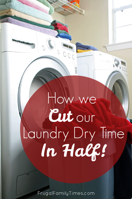 reduce laundry drying time