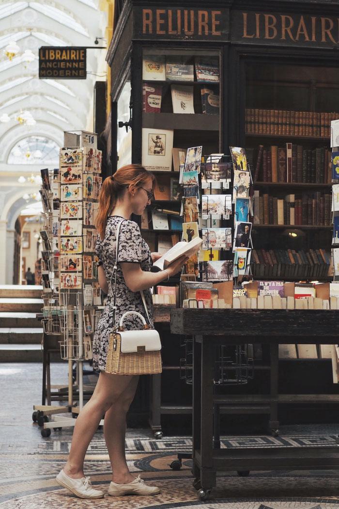Librairie dans la galerie Vivienne à Paris