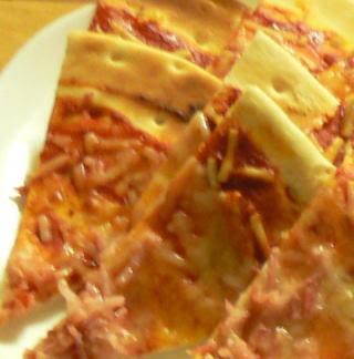 切ったピザ