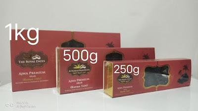 3 pilihan kotak Kurma Ajwa Aliyah Premium