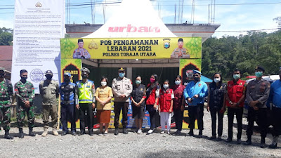 Propam Polres Toraja Utara Cek Kesiapan Personil Pada Pos Pengamanan Lebaran 2021