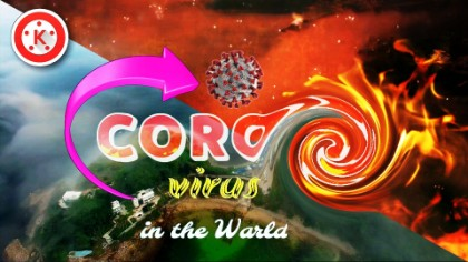 Make CORONA text animation in Kinemaster.