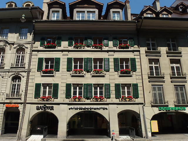 One of the main shopping streets in the centre of Bern