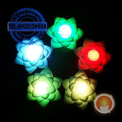 Đèn hoa sen đổi màu