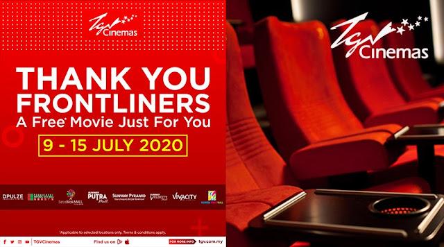 tiket wayang percuma untuk frontliners daripada tgv cinemas