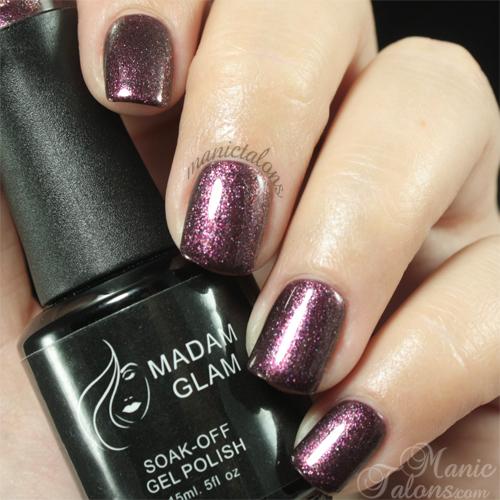 Madam Glam Gel Polish 238 Shimmer Lavender Swatch