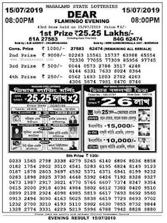 Nagaland state lottery today result 08:00 pm download now. Nagaland lottery result of night dear ticket is now available. Access easily nagaland result.