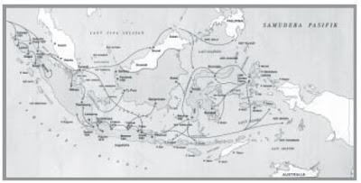 Peta Penyebaran Agama Islam di Indonesia