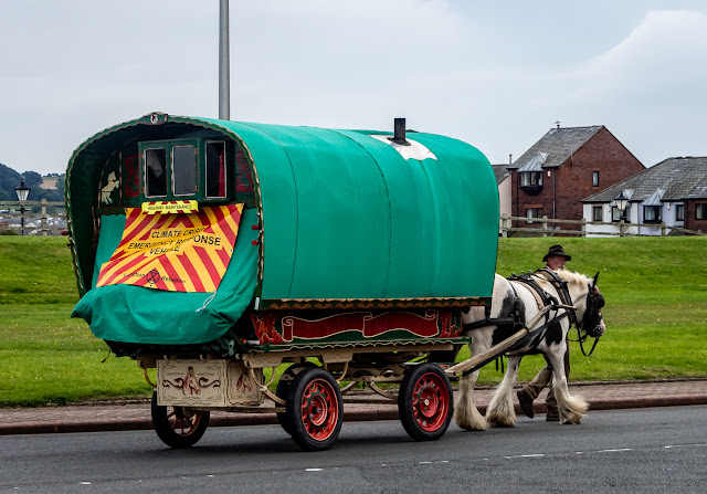 Photo of another view of the horse-drawn caravan