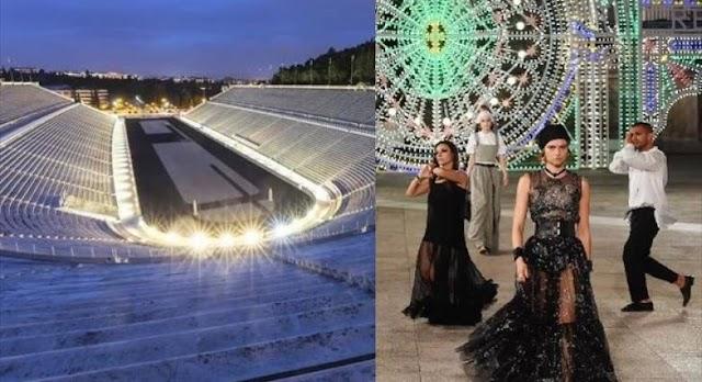 Επίδειξη μόδας του Οίκου Dior στο Καλλιμάρμαρο, στις 17 Ιουνίου