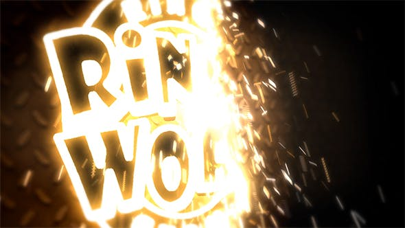 Welding Logo Opener in 3D with Sparks[Videohive][After Effects][19461634]