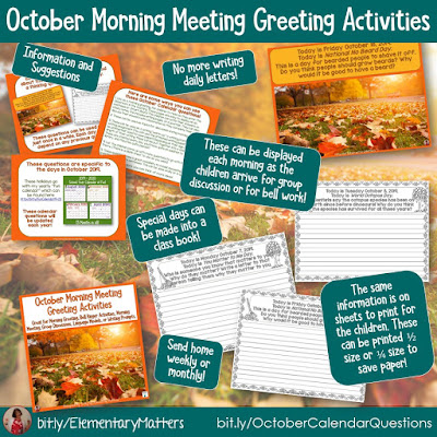 https://www.teacherspayteachers.com/Product/October-Morning-Meeting-Greeting-Activities-hellofall-4034538?utm_source=October%20Resources%20post&utm_campaign=October%20Calendar%20Questions