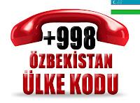 +998 Özbekistan ülke telefon kodu