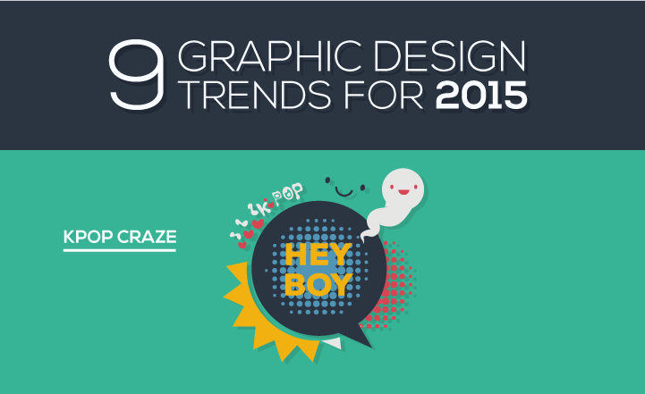 9 Visual Design Trends for 2015 - #infographic