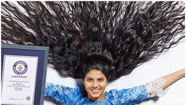 News, National, India, Gujarath, Guinness Book, Mother, Health & Fitness, Teen Girl to Guinness World Record with Longest Hair