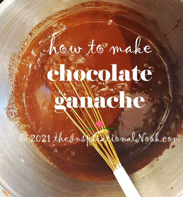 How to make chocolate ganache, step by step tutorial, chocolate ganache with half and half, low fat, without cream