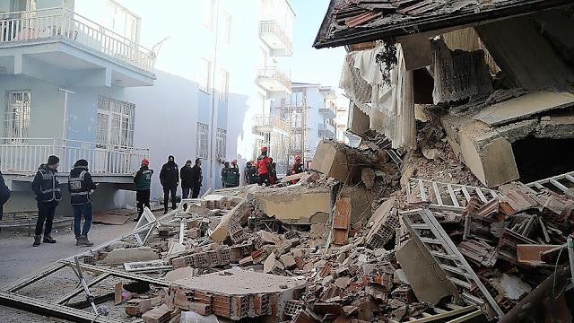 Ново земетресение в Турция срути 6-етажна сграда (ВИДЕО)