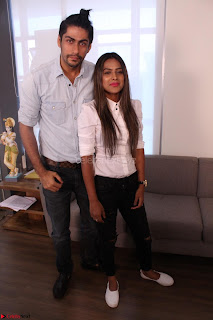 Nia Sharma at an itnerview for For Web Series Twisted 30.JPG