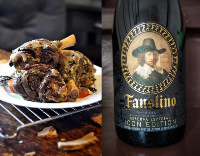 Lamm mit Rotwein Faustino Icon Edition