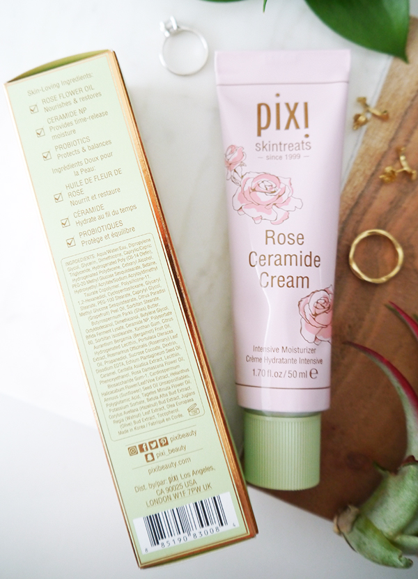 Pixi Rose Ceramide Cream ingredients