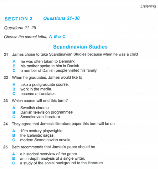 Latihan IELTS | Cambridge IELT 12 | Test 6 | Section 3 | Listening