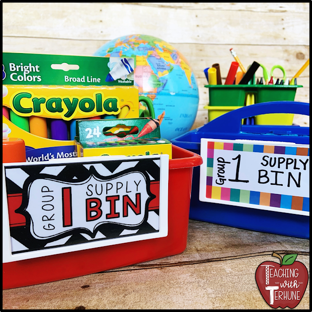Really Good Stuff Label Holders for Classroom Suppy Bins