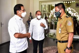Wakil Bupati Humbahas Silaturahmi dengan Menteri ATR/BPN di Pendopo Gubernur Sumut