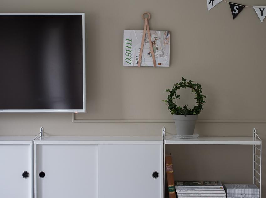 DIY olohuoneen seinälle