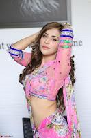 Angela Krislinzki Rogue Movie Fame Telugu Actress in Saree Backless Choli 040.JPG