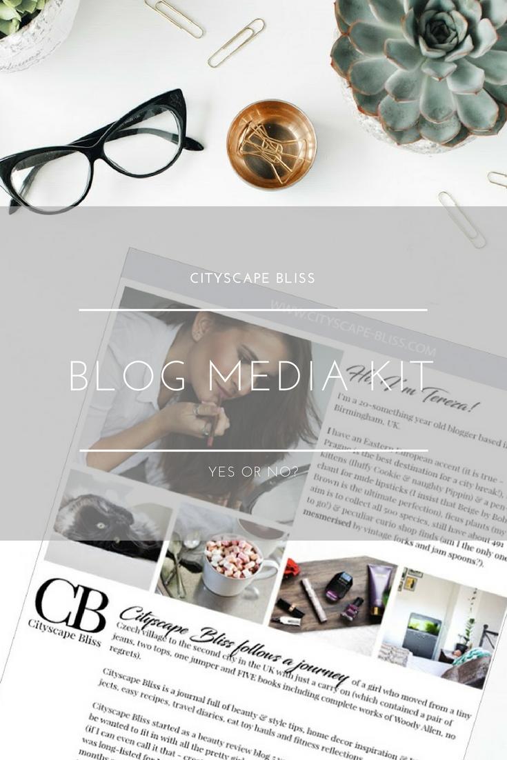 Blog media kit - yes or no?