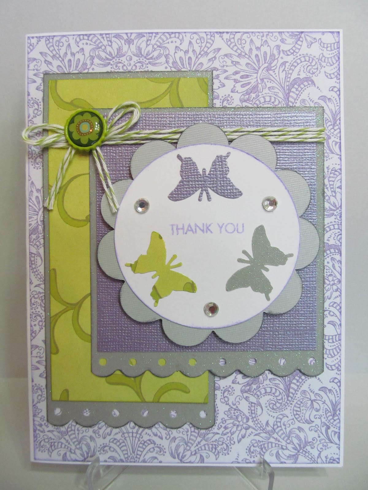 Savvy Handmade Cards: Handmade Thank You Card