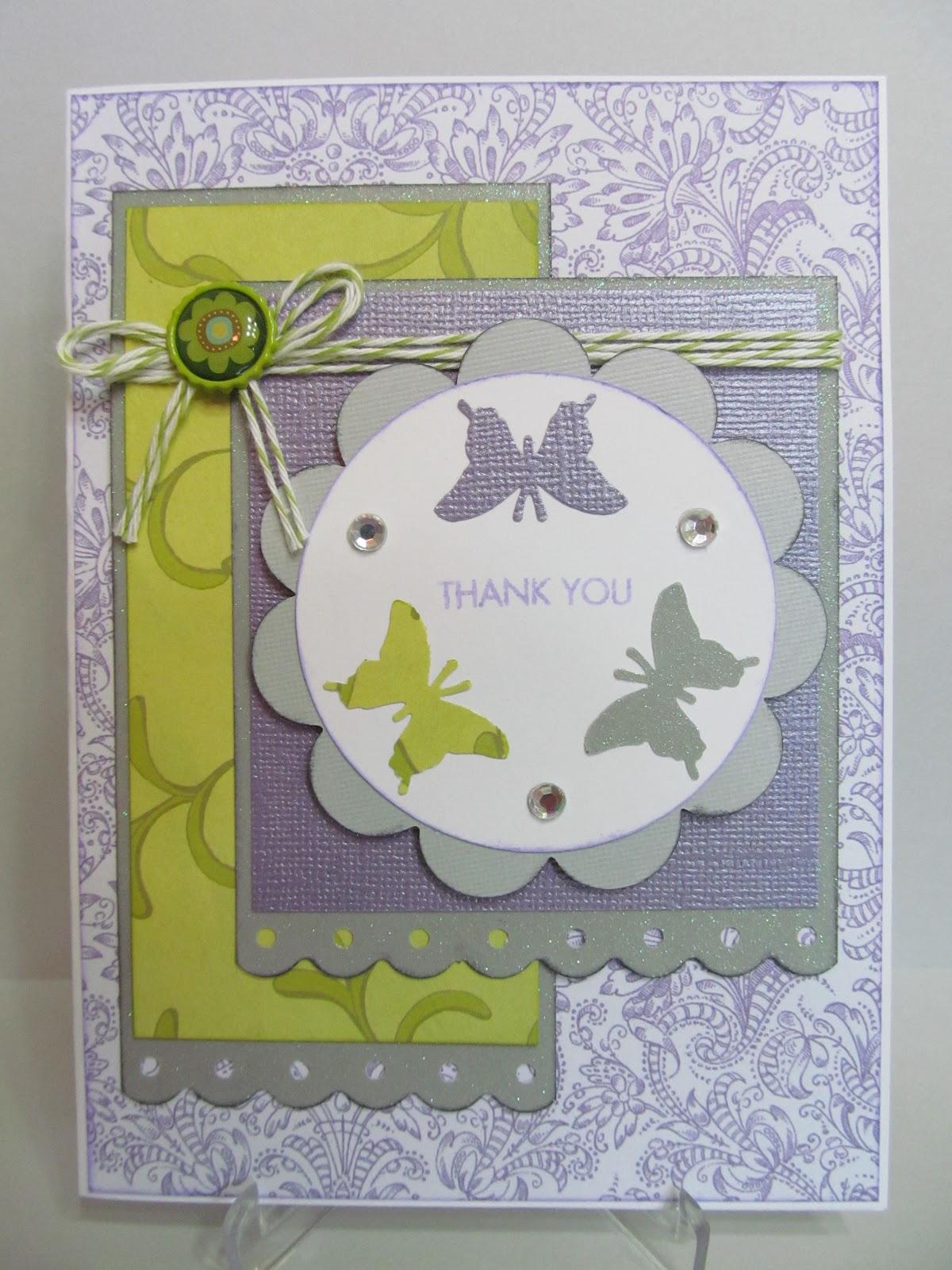 Savvy Handmade Cards: Handmade Thank You Card