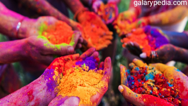 Holi images of colours