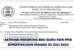 Guru HONORER , Aktivasi Rekening BSU Guru non-PNS Diperpanjang Hingga 31 Juli 2021 CEK Selengkapnya!