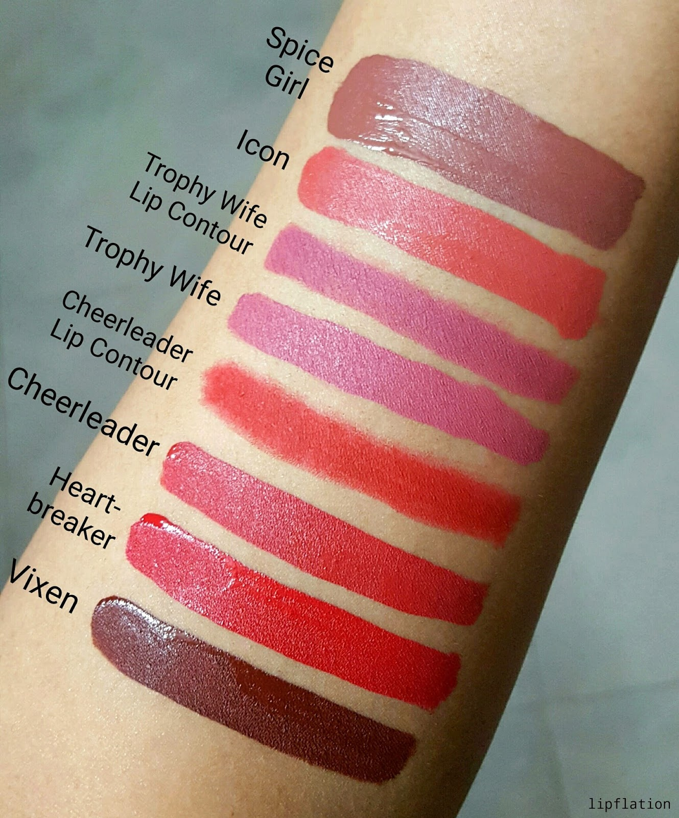 Lipstick shades with colour name
