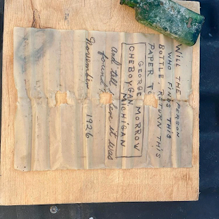 Diver finds message in a bottle from 1926 in Michigan river