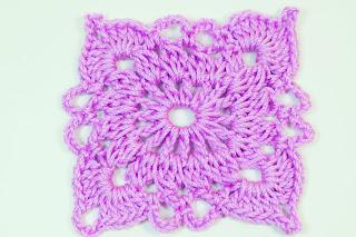 Majovel Crochet cuadro cobijas crochet o ganchillo lila fácil sencillo rápido