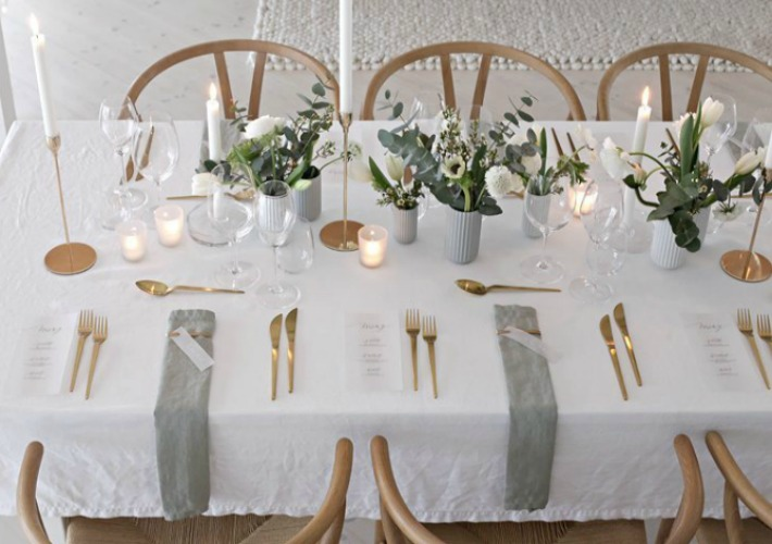 Inspiración para celebrar una boda, comunión o bautizo en casa