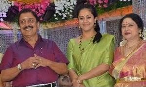 Sivakumar, Jyothika attend Jayachitra's Son Amresh Wedding Reception