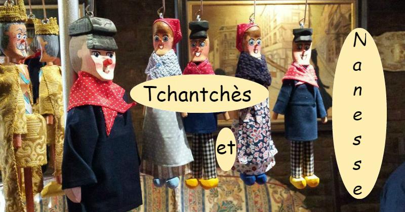 Tchantchès et Nanesses marionnettes de bois par chez.xyz