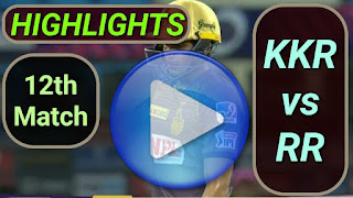 KKK vs RR 12th Match