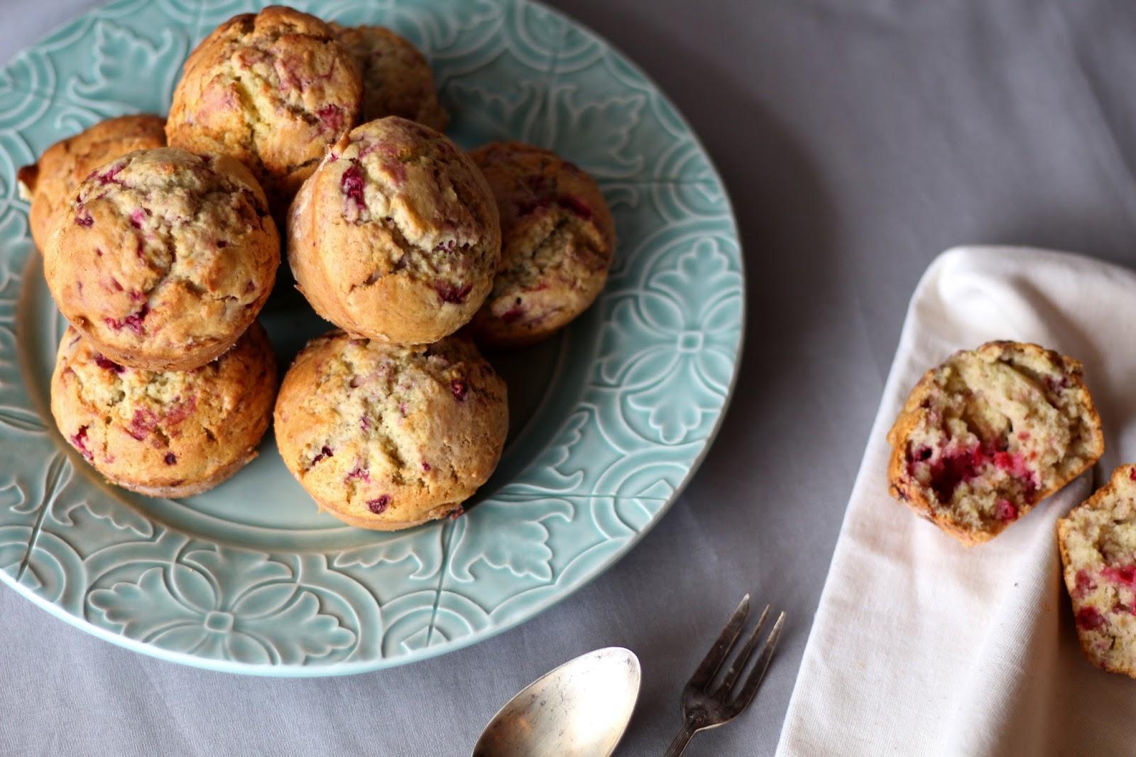 Muffins de framboesa e limão