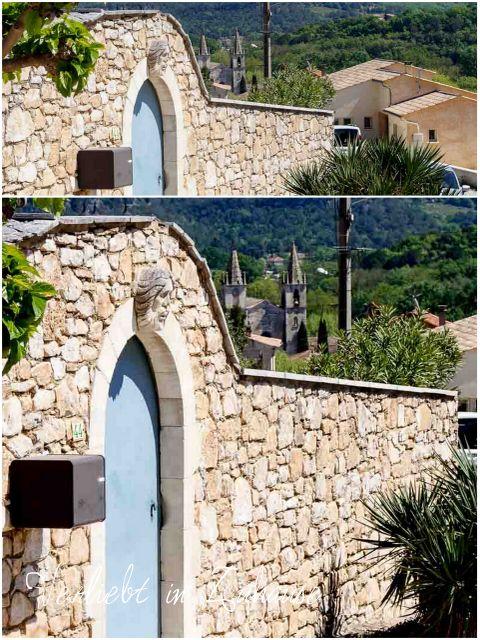 Haustür Dekoration Goudargues Frankreich